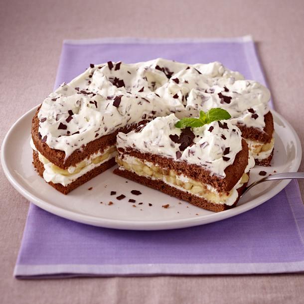 Schoko Bananen Sahne Torte Rezept Lecker