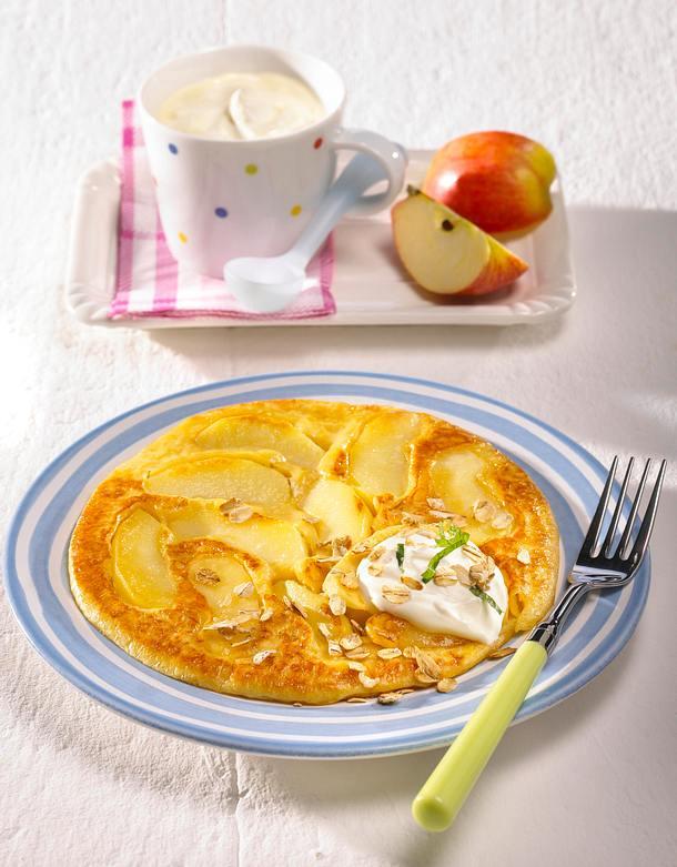 Apfel Quark Pfannkuchen Rezept Lecker