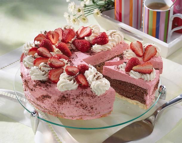 Erdbeer Schoko Torte Rezept Lecker