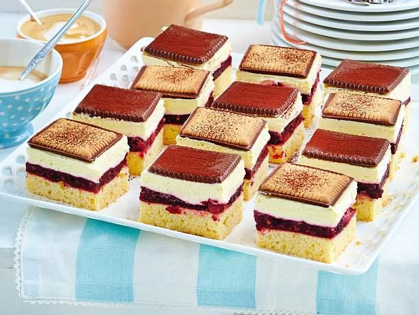 Schachbrett Butterkeks Kuchen Mit Roter Grutze Rezept Lecker