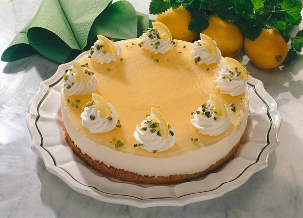 Zitronen Quark Sahne Torte Rezept Lecker