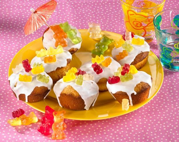 Gummibarchen Muffins Mit Hermannteig Rezept Lecker
