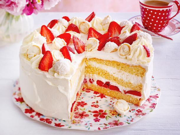 Erdbeer Raffaello Torte Rezept Lecker