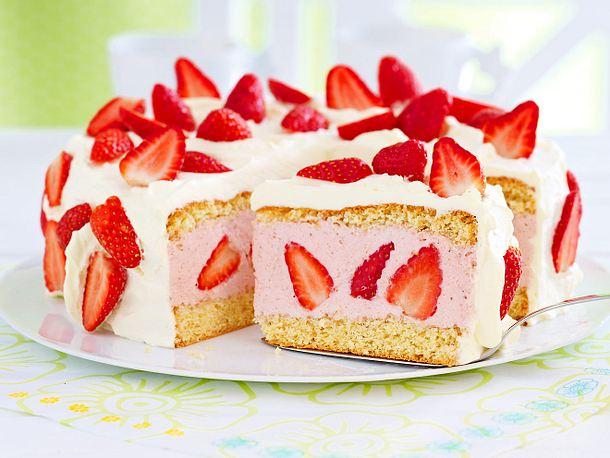 Erdbeer Sahnetorte Rezept Lecker