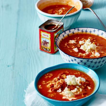 """Feel Pretty""-Hirsensuppe auf cremiger Tomatenbasis Rezept"