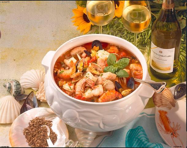 Kalifornischer Fischtopf (Cioppino) Rezept
