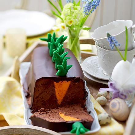 """""""Möhrchenterrine"""" à la Mousse au Chocolat Rezept"""