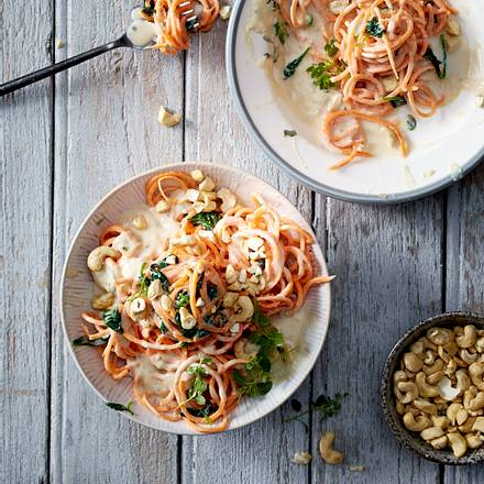 """Wolke 7""-Süßkartoffelspaghetti Rezept"