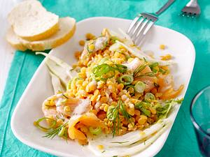 20-Minuten-Linsensalat mit Lachs Rezept