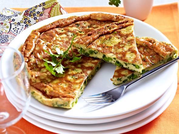 20-Minuten-Tortilla mit Erbsen Rezept