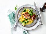 Steckrüben-Curry zu Steak-Involtini Rezept