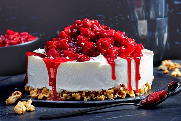 Advents-Cheesecake auf Popcornboden Rezept