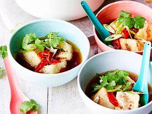 Agedashi*-Tofu in Wohlfühl-Brühe Rezept