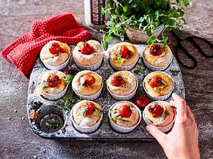 Ciabatta-Muffins alla caprese Rezept