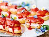 Eclairs mit Erdbeerliebelei Rezept