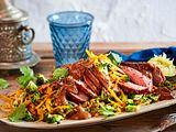 Ein Traum von Brokkolireis mit Erdnusssoße und Steak Rezept
