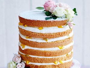 Exotischer Naked Cake Rezept