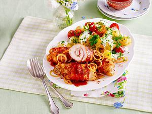Salsa-Röllchen mit Sommer-Kartoffelsalat (TITEL) Rezept
