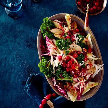 Wintersalat mit Cranberry-Dressing Rezept