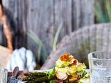 Achtung Rezept geändert in Käse-Wurstsalat zu grünem Spargel Rezept