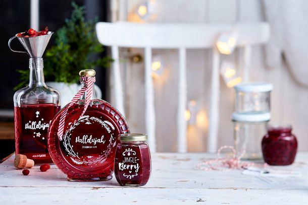 Cranberry-Gin und Cranberry-Mus Rezept
