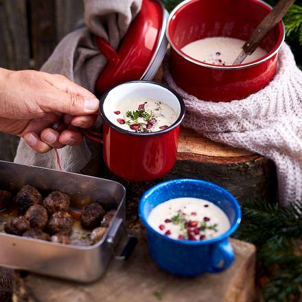 Weihnachtsbaumschlagen – Maronensuppe Rezept