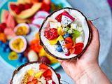 Frozen Yogurt in Kokosnusshälften Rezept