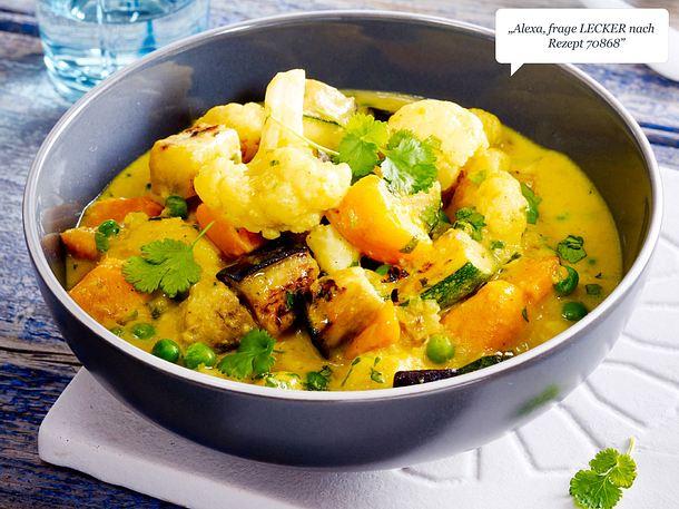 Gemüse-Kartoffel-Curry Rezept
