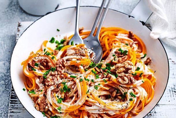 "Kürbis-Spaghetti ""Eat your veggies"" Rezept"