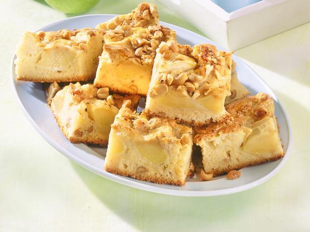 Karamell-Apfelkuchen vom Blech Rezept