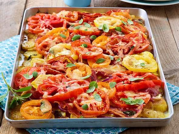 Kartoffel-Tomaten-Auflauf Rezept