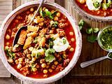 Kichererbsen-Chili mit Koriandersalsa Rezept