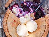 Landpartie-Pie mit Flechtwerk Rezept