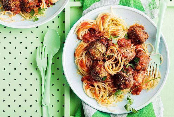 Meet-&-Greet-SoyBalls mit Spaghetti Rezept