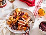 Mini-Turkey an Rotkohl und Knödeln Rezept