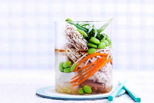 Miso-Ramen mit Edamame Rezept