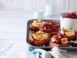 Ofen-Raclette auf Süßkartoffeln Rezept
