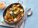 Ofengemüse-Salat mit Ciabatta-Croûtons Rezept