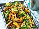 Ofenkartoffelsalat mit Kichererbsen und Spinat Rezept
