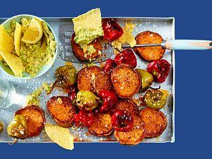 Süßkartoffeltaler mit Avocado-Dip Rezept