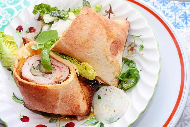 Steak-Roulade im Tortilla-Mantel Rezept