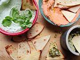 Tortilla-Ecken mit Dip-Auswahl Rezept