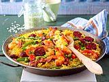 Unkomplizierte Ofen-Paella mit Chorizo Rezept