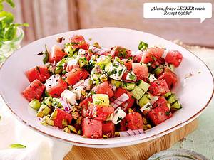 Wassermelonen-Gurken-Salat mit Feta Rezept-F8548703
