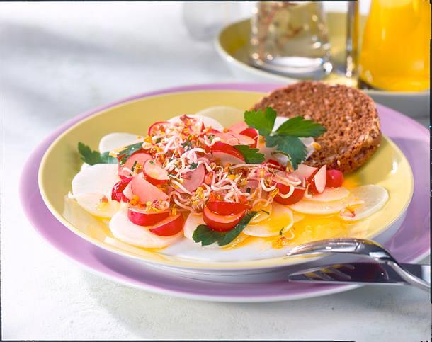 Abendessen Rettich-Radieschen-Carpaccio Rezept