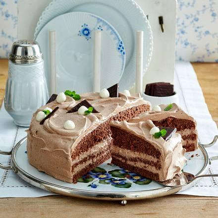 Schoko Minz Torte Rezept Lecker