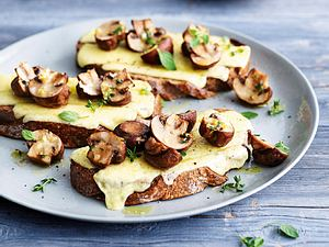 After-Work-Röstbrot mit Pilzen Rezept