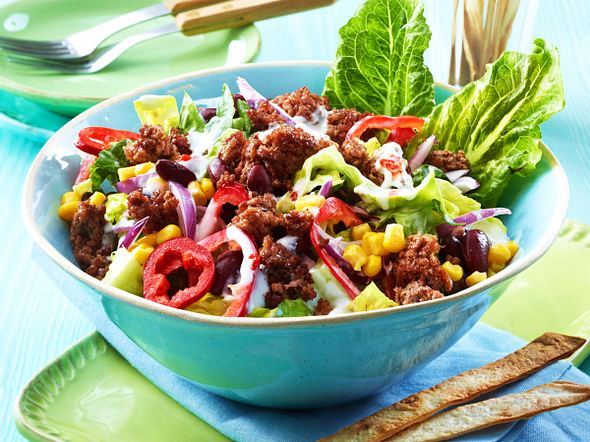 After-Work-Texmex-Salat mit Rinderhack Rezept