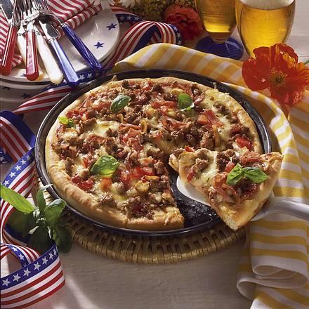 Amerikanische Pfannen-Pizza Rezept