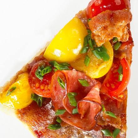 Amerikanische Salami-Pizza Rezept